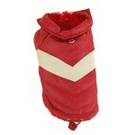 View Image 1 of Red Puffy V Dog Coat by Hip Doggie