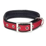 View Image 1 of Reflective Cushion Dog Collar by Zack & Zoey - Red