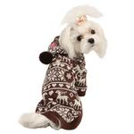 Reindeer Dog Hoodie by Pinkaholic - Brown