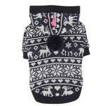 View Image 2 of Reindeer Dog Hoodie by Pinkaholic - Navy