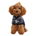 View Image 1 of Reindeer Dog Jumpsuit by Puppia - Navy
