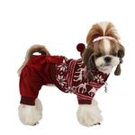 View Image 1 of Reindeer Dog Jumpsuit by Puppia - Wine