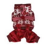 View Image 2 of Reindeer Dog Jumpsuit by Puppia - Wine