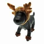 View Image 2 of Holiday Reindeer Dog Costume with Leg Cuffs - Brown