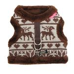 View Image 3 of Reindeer Pinka Dog Harness by Pinkaholic - Brown