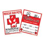 Rescue Our Pets Emergency Decal