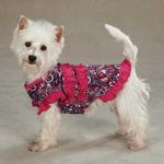 View Image 3 of Retro Paisley Ruffle Dog Tank