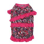 View Image 2 of Retro Paisley Ruffle Dog Tank