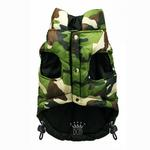 View Image 4 of Reversible Camo Puffer Dog Vest by Hip Doggie