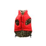View Image 1 of Reversible Leopard Puffer Dog Vest by Hip Doggie