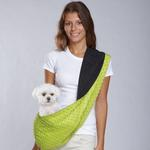 View Image 3 of Reversible Sling Dog Carrier - Green/Black