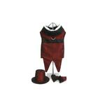 View Image 1 of Rhett Butler Dog Tuxedo with Bowtie and Top Hat