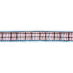 View Image 1 of Ribbon London Plaid Blue Dog Leash