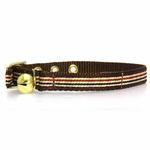 View Image 1 of Ribbon London Plaid Brown Cat Collar