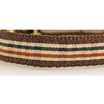 View Image 2 of Ribbon London Plaid Brown Dog Collar