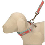 View Image 1 of Ribbon Pink & Teal Alligator Dog Leash - Miami Heat