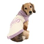 View Image 3 of Riley Dachshund Hooded Dog Shirt by Puppia - Ivory