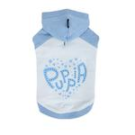 View Image 1 of Riley Dachshund Hooded Dog Shirt by Puppia - Light Blue