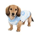 View Image 3 of Riley Dachshund Hooded Dog Shirt by Puppia - Light Blue