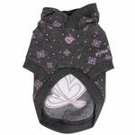 View Image 2 of Ritzy Dog Hoodie by Pinkaholic - Gray
