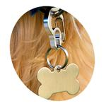 View Image 1 of Rubit Dog Tag Clip - Silver Curve