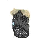 View Image 1 of Ruched Bubble Jacket by Dogo - Black