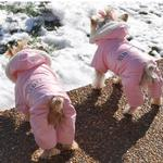 Ruffin It Snowsuit - Pink