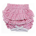 Ruffled Pink Gingham Dog Panties by Doggie Design