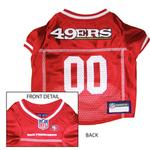 View Image 1 of San Francisco 49ers Officially Licensed Dog Jersey - Red with White Trim