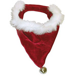 View Image 1 of Santa Claus Christmas Holiday Red Dog Bandana