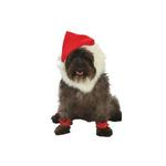 Santa Holiday Dog Costume with Leg Cuffs