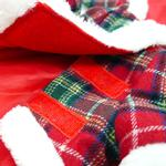 View Image 3 of Santa Plaid Dog Coat by Dogo