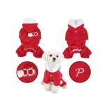 View Image 2 of Santa's Dog Jumpsuit by Puppia