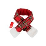 View Image 1 of Santa's Dog Scarf by Puppia - Red Plaid