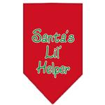 Santa's Little Helper Dog Bandana - Red