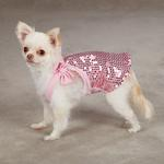 View Image 2 of Sassy Sequin Dog Tank Top - Pink