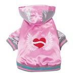 View Image 3 of Satin Bomber Dog Jacket - Pink