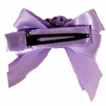 View Image 2 of Satin Handmade Dog Bow - Lavender