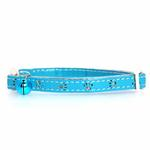 View Image 1 of Savvy Tabby Sparkle Paw Cat Collar - Bluebird