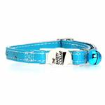 View Image 2 of Savvy Tabby Sparkle Paw Cat Collar - Bluebird