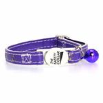 View Image 2 of Savvy Tabby Sparkle Paw Cat Collar - Ultra Violet