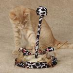 View Image 1 of Savvy Tabby Wild Time Chirping Teaser Cat Toy - Black