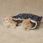 View Image 3 of Savvy Tabby Wild Time Hide-N-Tweet Crinkle Cat Toy - Black