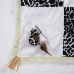 View Image 3 of Savvy Tabby Wild Time Play Patch Cat Toy - Black