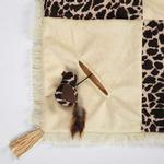 View Image 2 of Savvy Tabby Wild Time Play Patch Cat Toy - Brown