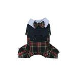 View Image 3 of Scottie Plaid Jumpsuit by Puppia - Navy
