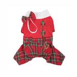 View Image 1 of Scottie Plaid Jumpsuit by Puppia - Red