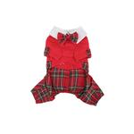 View Image 2 of Scottie Plaid Jumpsuit by Puppia - Red