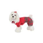View Image 3 of Scottie Plaid Jumpsuit by Puppia - Red