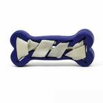 View Image 1 of Seamsters Rubber/Rawhide Weave Bone Toy